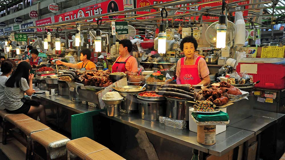 <i>Gwangjang Market, Seoul (South Korea)<i>